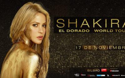 """Shakira """"El Dorado World Tour"""". 17 de novimber"""