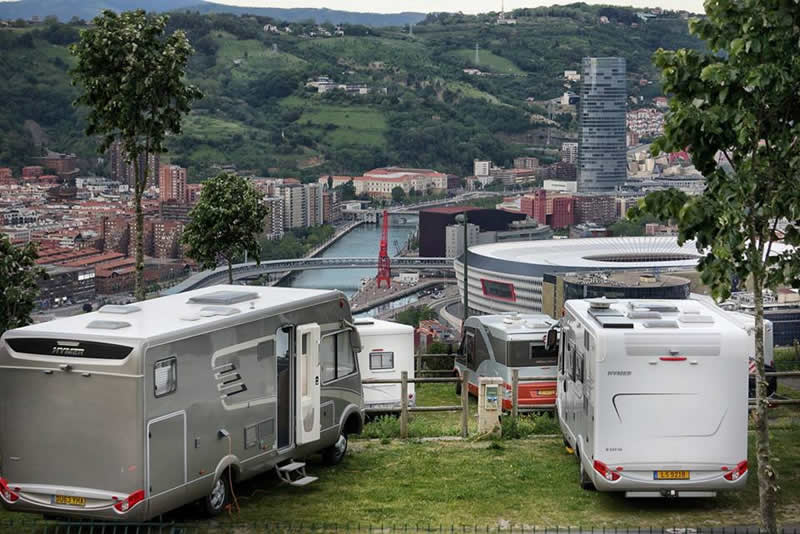 Parking Provisional autocaravanas durante el festival BILBAO BBK LIVE 2018