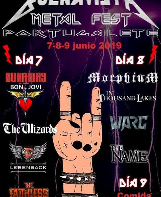 Buenavista metal Fest de Portugalete del 7 al 9 de junio